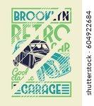 vector illustration. brooklyn... | Shutterstock .eps vector #604922684