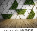 wall in modern interior with... | Shutterstock . vector #604928339