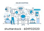 online shopping cycle  from... | Shutterstock .eps vector #604932020