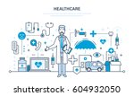 modern medicine and the health... | Shutterstock .eps vector #604932050