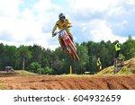 plunge lithuania june 12... | Shutterstock . vector #604932659