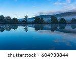 beautiful huon river landscape... | Shutterstock . vector #604933844