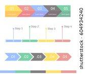 progress bar statistic concept. ... | Shutterstock .eps vector #604934240