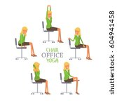 vector illustration with office ... | Shutterstock .eps vector #604941458