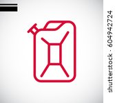 jerrycan icon illustration | Shutterstock .eps vector #604942724