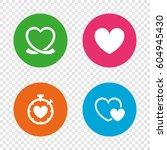 heart ribbon icon. timer... | Shutterstock .eps vector #604945430