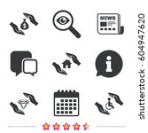 hands insurance icons. money... | Shutterstock .eps vector #604947620