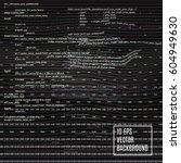 glitch background. digital... | Shutterstock .eps vector #604949630