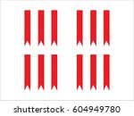 ribbon decoration  icon  vector ... | Shutterstock .eps vector #604949780