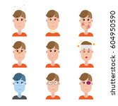 various disease avatars. man... | Shutterstock .eps vector #604950590