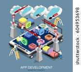 isometric flat concept app...