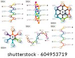 set of timeline infographic... | Shutterstock .eps vector #604953719