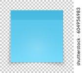sticky piece of blue paper ... | Shutterstock .eps vector #604956983