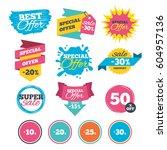 sale banners  online web... | Shutterstock .eps vector #604957136