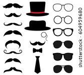 gentleman photo booth vector... | Shutterstock .eps vector #604959680