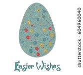 easter egg colorful... | Shutterstock .eps vector #604960040
