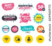 sale shopping banners. special... | Shutterstock .eps vector #604960970