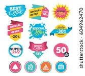 sale banners  online web... | Shutterstock .eps vector #604962470