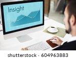 corporate business line graph...   Shutterstock . vector #604963883