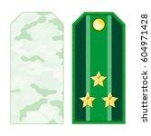 green military shoulder straps... | Shutterstock .eps vector #604971428