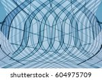 transparent structure with... | Shutterstock . vector #604975709