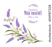bunch of lavender flowers on a... | Shutterstock . vector #604987328