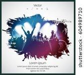 dancing people | Shutterstock .eps vector #604989710