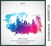 dancing people | Shutterstock .eps vector #604989719