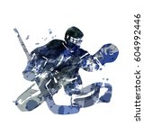 watercolor silhouette hockey... | Shutterstock .eps vector #604992446