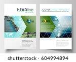 business templates for brochure ... | Shutterstock .eps vector #604994894