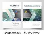business templates for brochure ... | Shutterstock .eps vector #604994999