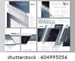social media posts set.... | Shutterstock .eps vector #604995056