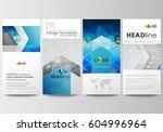 flyers set  modern banners.... | Shutterstock .eps vector #604996964