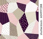 seamless pattern  patchwork... | Shutterstock .eps vector #604997288