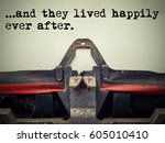 close up of old typewriter... | Shutterstock . vector #605010410