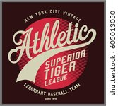 vintage varsity graphics and... | Shutterstock .eps vector #605013050