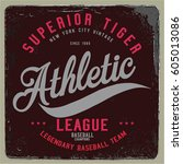 vintage varsity graphics and... | Shutterstock .eps vector #605013086