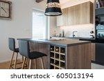 contemporary kitchen interior | Shutterstock . vector #605013194