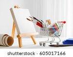 Mini Shopping Cart Full With...