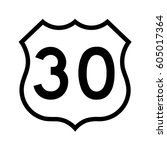 us route 30  filled with white | Shutterstock .eps vector #605017364
