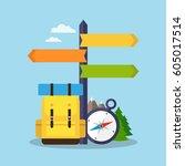 outdoor activities concept.... | Shutterstock .eps vector #605017514