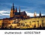 Prague's Castle During Sunset ...