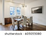 modern dining room  seating for ... | Shutterstock . vector #605055080