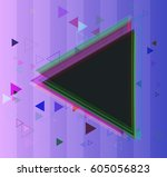 geographic template pattern | Shutterstock .eps vector #605056823