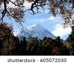lan n volcano. bariloche. | Shutterstock . vector #605072030