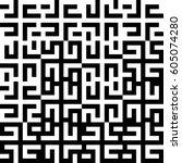 vector seamless pattern.... | Shutterstock .eps vector #605074280