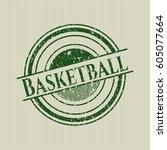 Green Basketball Distress...