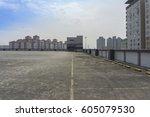 big parking area in rooftop | Shutterstock . vector #605079530
