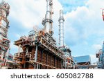 oil and gas industry  ... | Shutterstock . vector #605082788