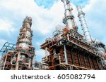 oil and gas industry  ... | Shutterstock . vector #605082794